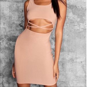 Tall Square Neck Cut Out Dress